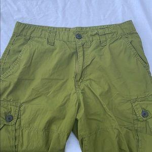 Green Arizona cargo shorts